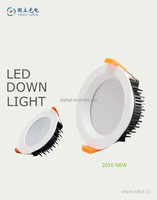 2016 New design AL Die cast Round led downlight 9W 12W 18w