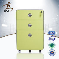 China mingxiu office furniture steel 3 drawer vertical file cabinet / fireproof paint cabinets