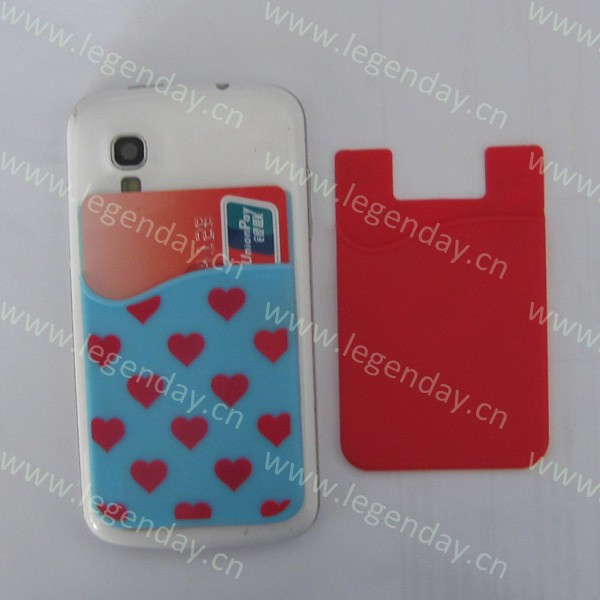 custom 3m sticky silicone smart wallet,silicone card holder wallet ,silicone phone pouch