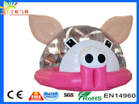 Transparent PVC material 2016 giant pig trade show inflatable tent