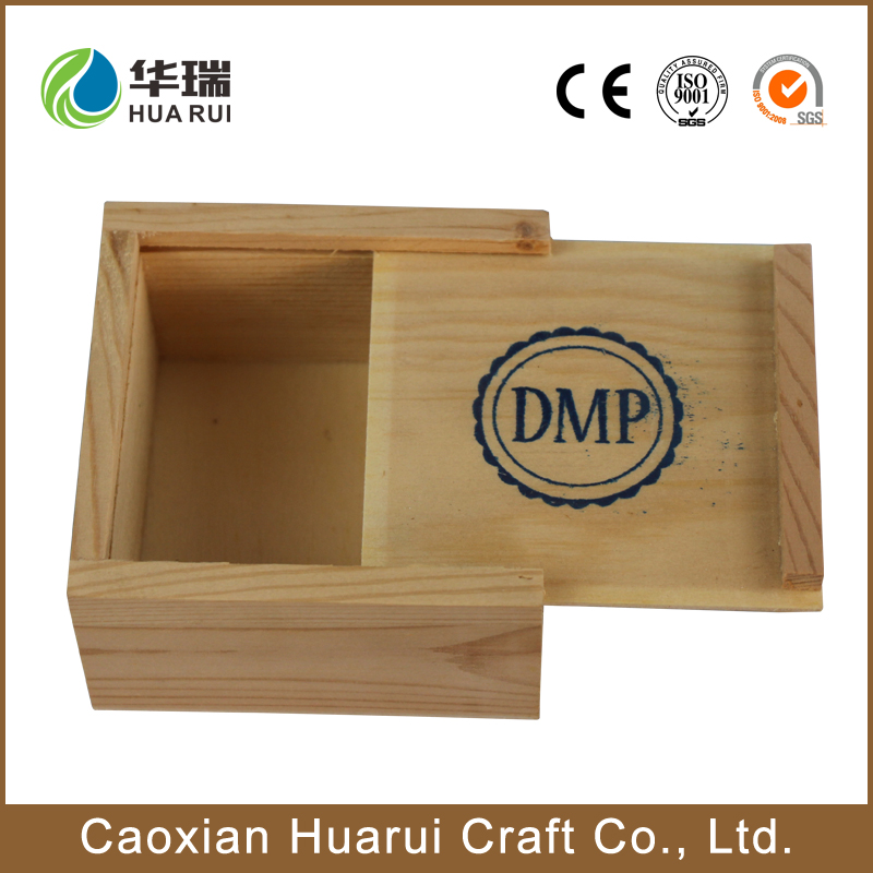 cosmetic packaging secend package wooden box sliding lid small wooden sliding box