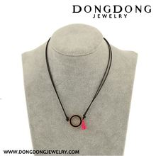 New products trendy style charm white stainless steel necklace