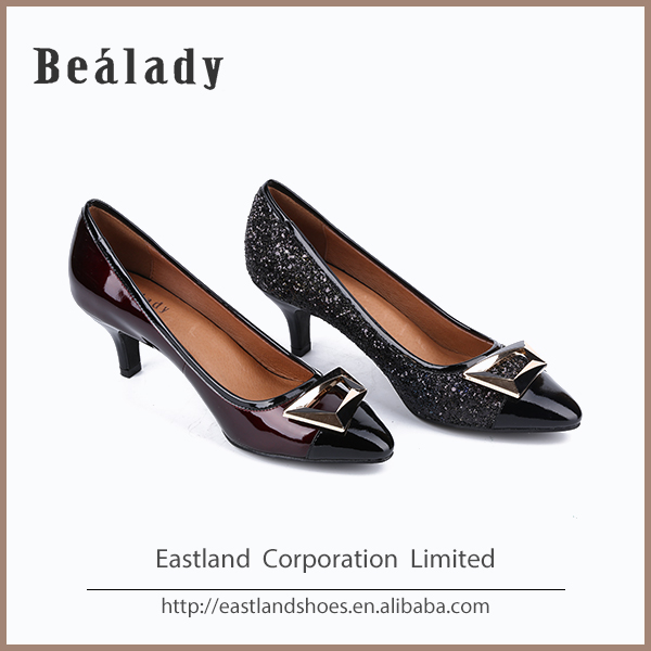 Pointed Toe rubber sole Leather Office Women Large Size Shoes