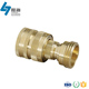 ISO 9001 OEM high quality cnc machined male female threaded brass quick release coupling