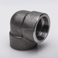 forged fittings 3000# stainless steel 90 degree elbow