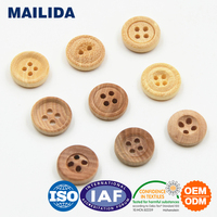 MT050 Wooden Button In Natural Color