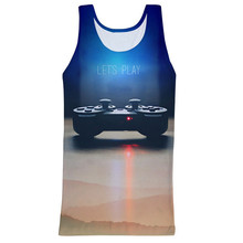 2015 customized full printing mens tank top