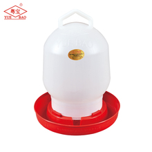 Poultry plastic manual drinkers chicken waterer feeder for cage