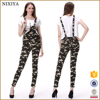 Camouflage jeans jeans overalls women bib pant