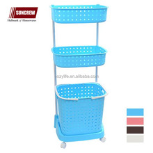 Home storage rack multi layers PP plastic hamper basket