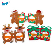 Soft pvc X'mas party glasses reindeer/snowman/gift design glasses mask