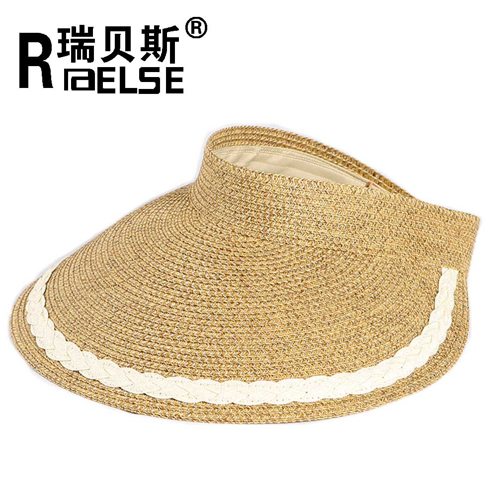 beach sports sun visor hat foldable roll up paper straw hat cap