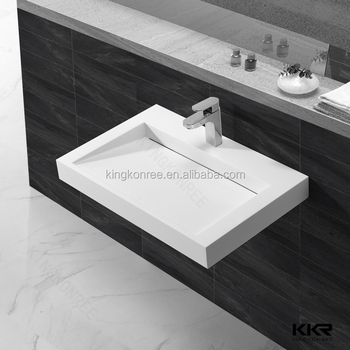 KKR Modern design solid surface bathroom lavabo
