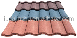 blue/green/red color stone coated roof tiles