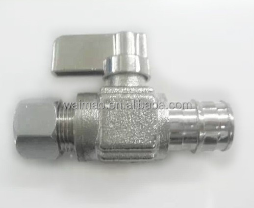 china Newly designed water PEX and OD Comp. Straight Mini Ball Valve