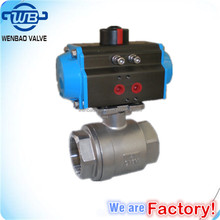 stainless steel 2pc thread ball valve 1000WOG 2000PSI ball valve velan pneumatic actuated ball valve dn40