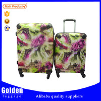 Women's travel 2016 luggage bags and cases lady's fashion designer trolley luggage bag