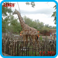 Animal theme park high quality animatronic life-size giraffe