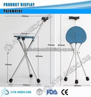 AYR-2904T Aluminum Folding Seat Crutches