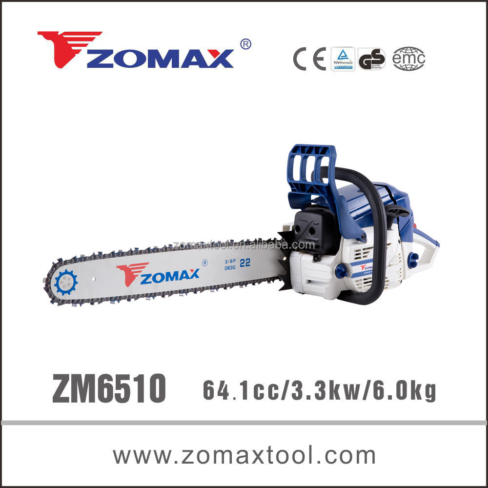 Chinese chain saw ZM6510 professional chainsaw 62cc
