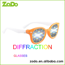 passive side by side 3d diffraction glasses for night bar fireworks