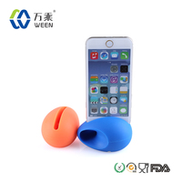 Promotional custom silicone egg shape portable speaker sound amplifier cell phone stand for iphone 4 4s 4c