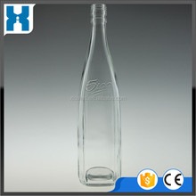 EMPTY BRAND NAME TEQUILA GLASS BOTTLE CLEAR BOTTLE 750ML