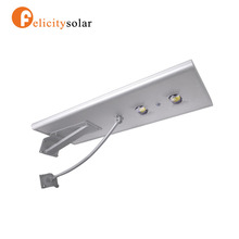 30W All in one integrated solar power led street light with pole