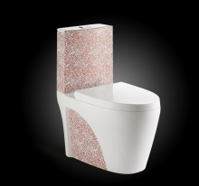 Elegant red rose sanitary ware ceramic wc