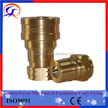 ISO 7241-1 Series B full-flow leak-free seal brass quick connect couplings
