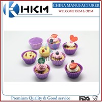 colorful customed single silicone muffin cups/bakeware