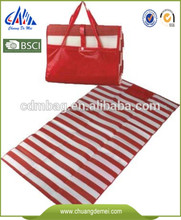 Padded foldable and fashion custom printing and laminated PP woven Beach Mat for picnic