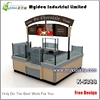 Modern mall fast food counter sushi bar kiosk design for sale