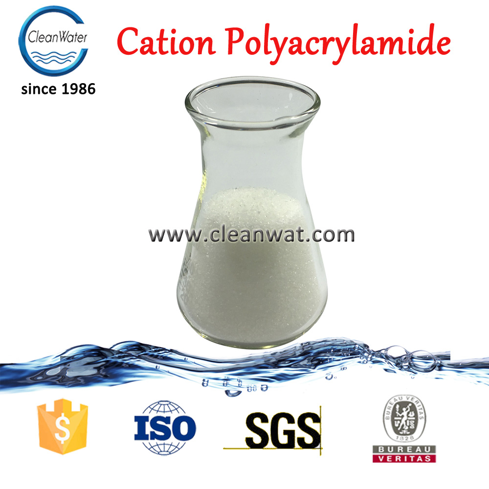 Cationic polyacrylamide used in textile printing water clarifying chemical