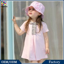 Factory Pricce Infant Clothing New Style BABY COTTON DRESS Neckline Smocking Christening Dress