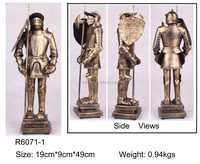 metal pewter medieval armor knight statues,pewter alloy armor helmet statue