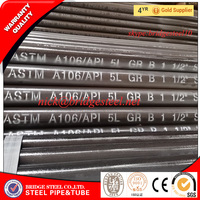 ASTM A106 GR.B carbon steel seamless pipe factory in China