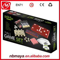 Wholesale Hight quality Hot Plastic multi game box backgammon checkers chess domino 7-in-1 shut the box game