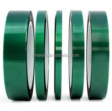 Heat resistance no residue green PET silicone polyester tape for masking PCB 3D printed