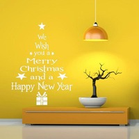 Merry Christmas Wall Sticker Window Stickers Christmas Ornaments 2018 Home Ornament Indoor Christmas Decor New Year 2019 Navidad