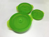 microwave silicone collapsible travel bowl with lids, food serve pot in kitchen
