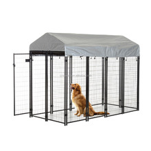 plastic coated double door dog cage/dog cage panles manufacturer