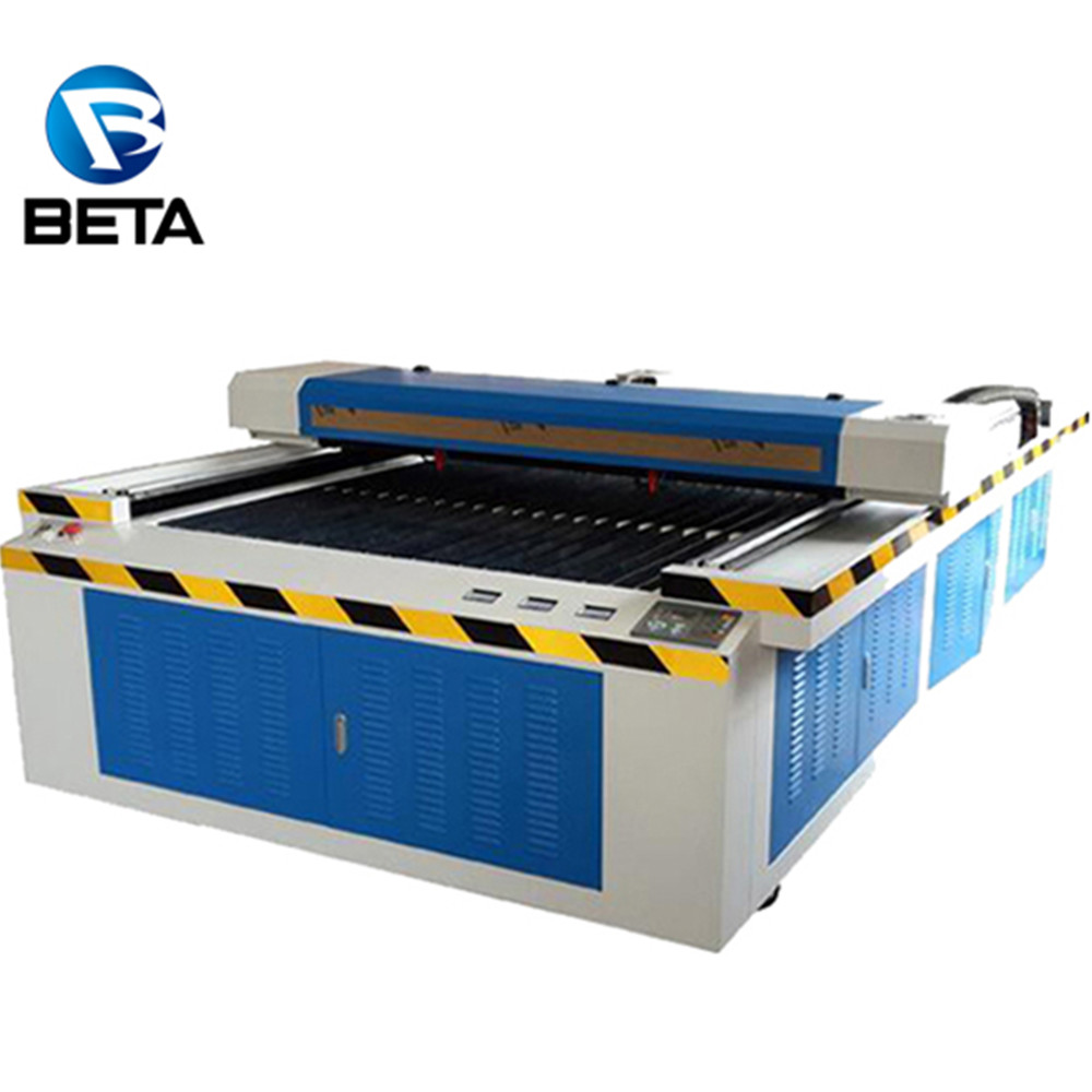 High quality!! China co2 laser cutting machine for wood art/leather/fabric/button processing