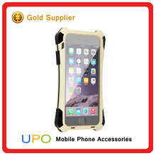 [UPO] Promotion Shockproof Waterproof Aluminum Metal Bumper Carbon Fiber Phone Covers Case for iPhone 6
