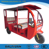 Daliyuan India rickshaw solar electric tricycle commercial tricycles for passengers