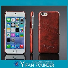 Wholesale OEM Eco-friendly Cowhide Leather Cell Phone Wallet Case For iPhone6,Custom Back Cover Case For iPhone 6