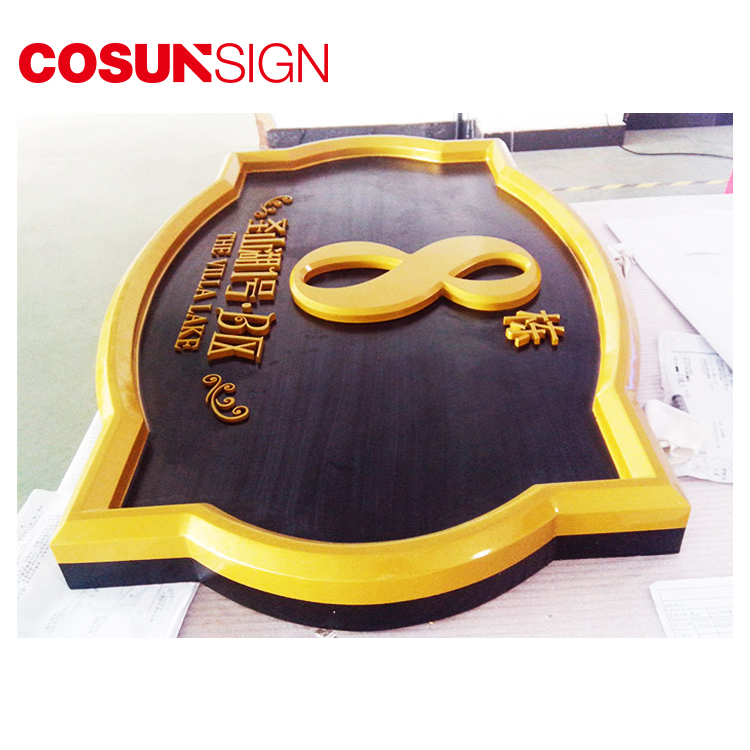 Stainless Steel Material and Customized Color brushed metal house numbers