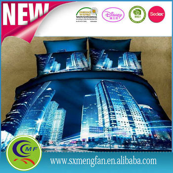 super softly 3 D digital printed bedding set