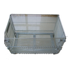 Heavy Duty Steel Foldable Wire mesh container Iron Cage Wire Boxes