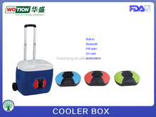26L outdoor cooler box with wheels